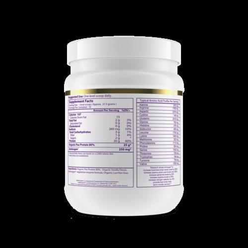 Pea Protein Vanilla Flavored side