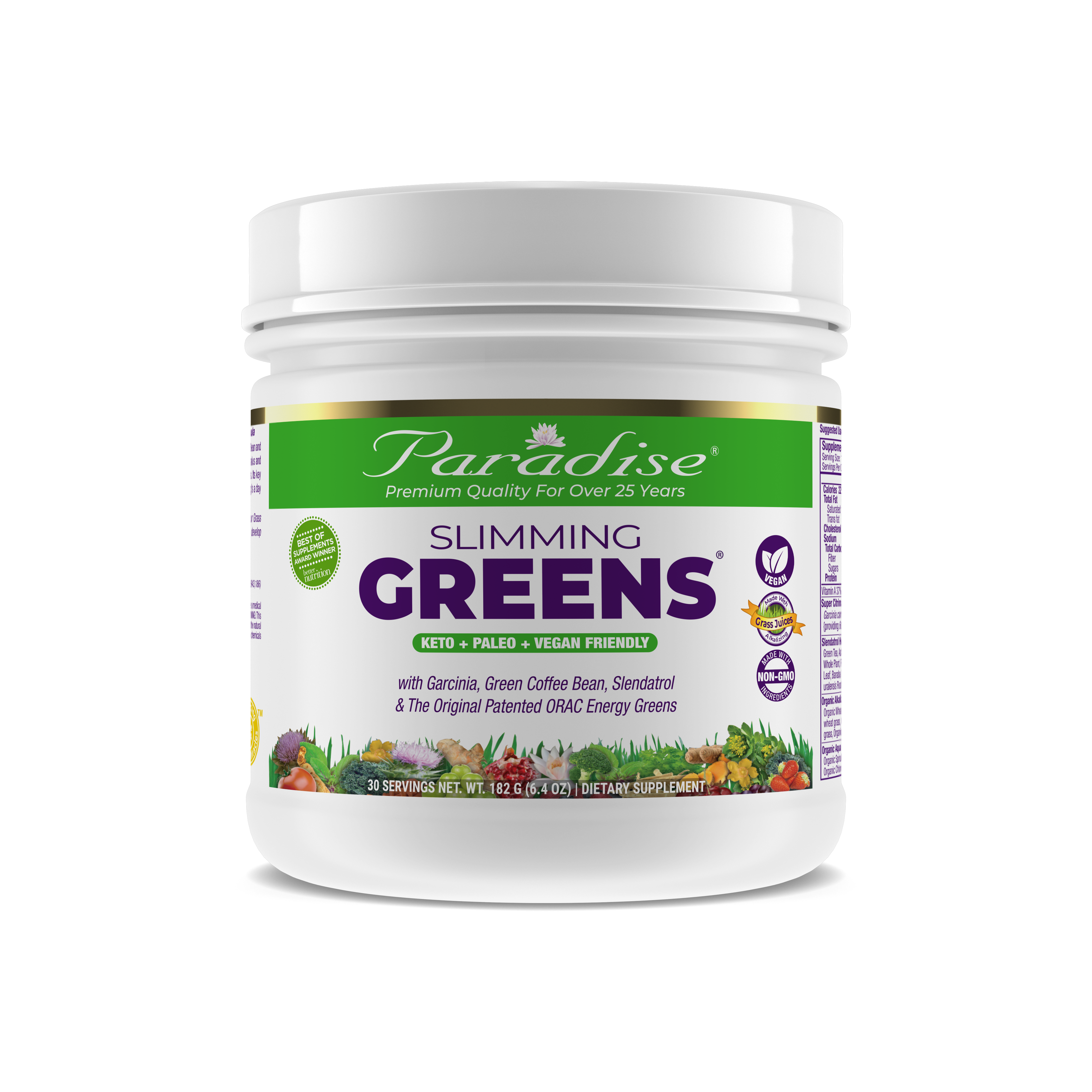 slimming greens front 30